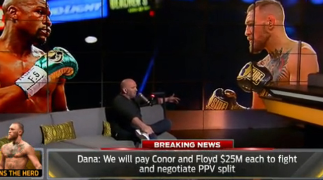 community news, Dana White Offers $25 Million Each For Mayweather McGregor Fight