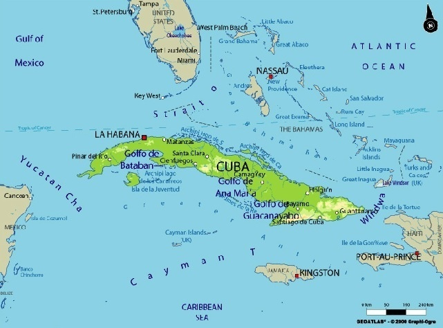 Jorge Masvidals Dad Got Lost At Sea While Defecting From Cuba - Cuba on map