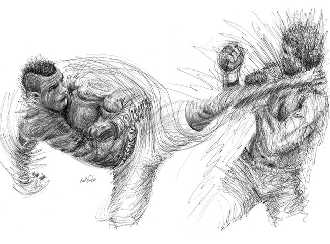 The Line Artist : Illustrating mma an interview with peruvian artist erick centeno