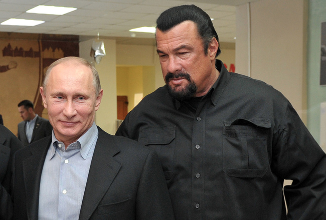 Image result for Putin meets steven seagal