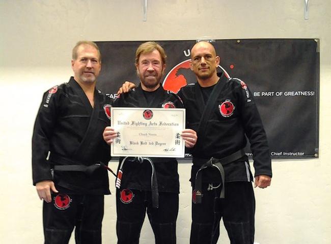 Chuck Norris Earns 3rd Degree Black Belt in BJJ | FIGHTLAND