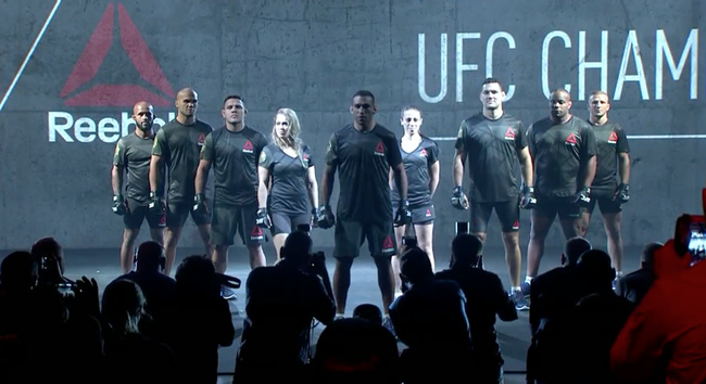 c2202ae890 The UFC and Reebok Just Unveiled the New Uniforms