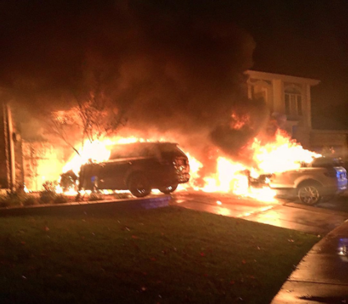 Three Of Anthony Pettis Cars Were Set On Fire Outside His Home In