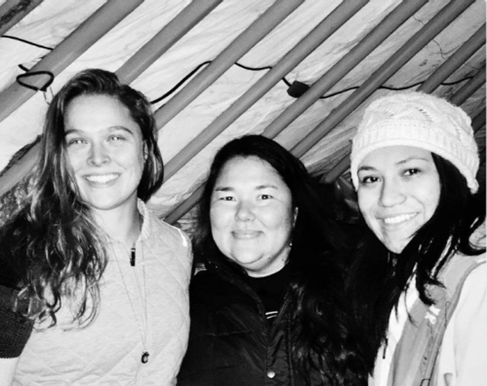 Ronda Rousey Brings Supplies to Standing Rock Protestors